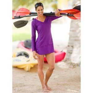Athleta Wick it Wader Hooded Tunic Coverup M